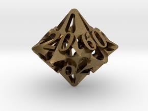 Pinwheel Decader d10 in Natural Bronze
