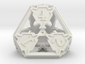 Large Premier d4 in White Natural Versatile Plastic