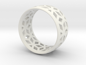 geometric ring 2 in White Strong & Flexible