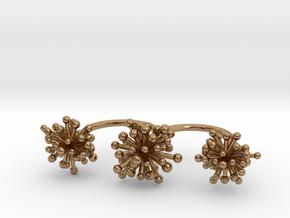 Triple Starburst Ring in Polished Brass