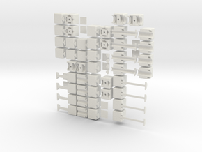 1x2xn set in White Natural Versatile Plastic
