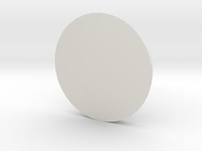 1 Inch Base Round in White Natural Versatile Plastic