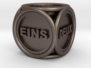 Text Dice 3   16mm in Stainless Steel