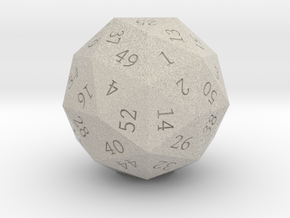 Pentakis Dodecahedral 60-sided die in Natural Sandstone