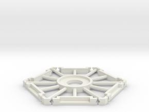Katan Hex 79mm v2a in White Natural Versatile Plastic