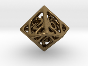 Cage d10 in Natural Bronze