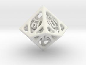Cage Decader d10 in White Natural Versatile Plastic