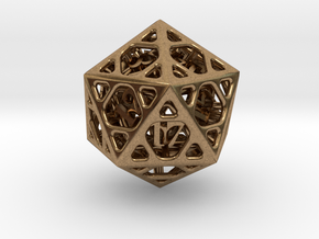 Cage d20 in Natural Brass