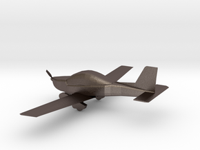 Lionceau plane in Polished Bronzed Silver Steel