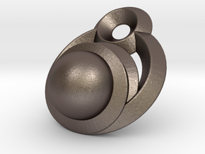 Sphere Orb in Polished Bronzed Silver Steel