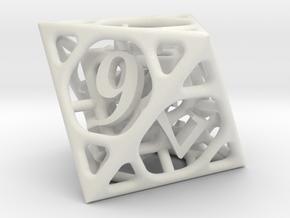 Cage d8 in White Natural Versatile Plastic