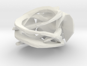 Rose Ring in White Natural Versatile Plastic