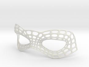 Mesh Mask in White Natural Versatile Plastic