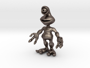 Ato, the Alien in Polished Bronzed Silver Steel