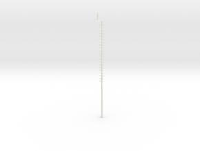 Czech Yard Lamp H0 Scale in White Natural Versatile Plastic