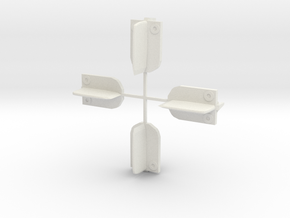 Revised 1/43 guide flags in White Natural Versatile Plastic