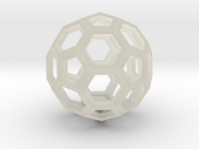 Truncated icosahedron in Transparent Acrylic