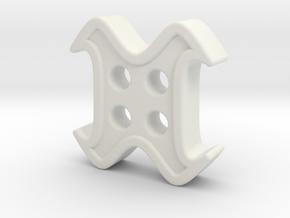 designer button in White Natural Versatile Plastic
