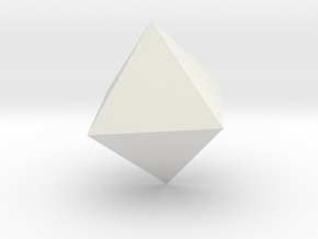 octahedron-l in White Natural Versatile Plastic