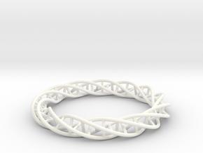 Double DNA Bracelet (63 mm) in White Processed Versatile Plastic