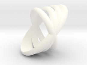 4 Rings 1  in White Processed Versatile Plastic