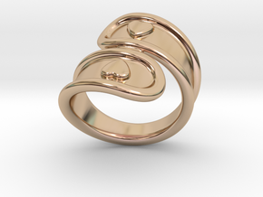 San Valentino Ring 21 - Italian Size 21 in 14k Rose Gold Plated Brass