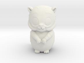 Tiger_zodiac in White Natural Versatile Plastic