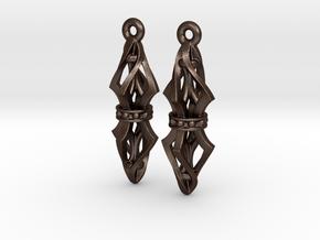 Lantern ear07 in Matte Bronze Steel