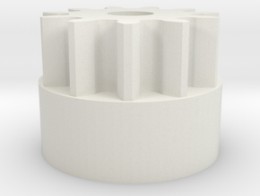 Reprap Wades Small Gear (Nopheads Version) in White Strong & Flexible