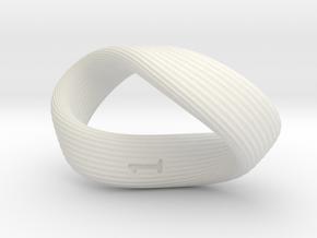 Mobius 1-Sided Die in White Natural Versatile Plastic