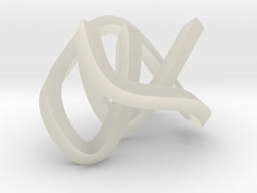 small mobius figure 8 knot in Transparent Acrylic