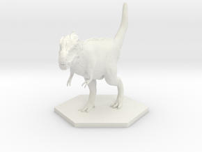 T-rex in White Natural Versatile Plastic