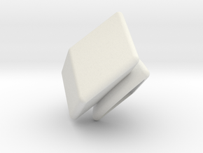 NCFTR Corner (print 8) in White Natural Versatile Plastic