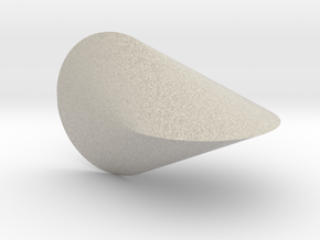 Oloid 2-circle roller in Natural Sandstone