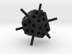 Mini Megaminx core (Print 1) in Black Strong & Flexible