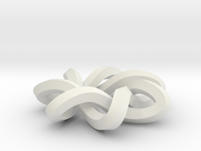 sm 7-1 mobius 360 degree twist in White Natural Versatile Plastic