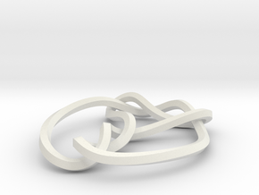 mobius 7_3 knot 360 degree twist in White Strong & Flexible