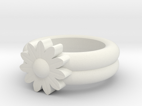 Sarah Allen Gerbera Ring in White Natural Versatile Plastic