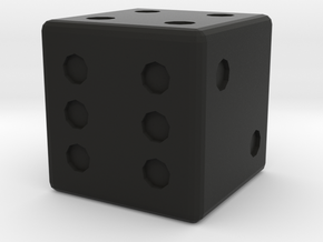 Basic D6 Die .5 inches in Black Strong & Flexible