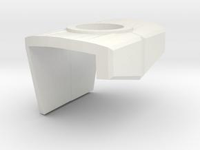 Pauldron T.Marine in White Natural Versatile Plastic