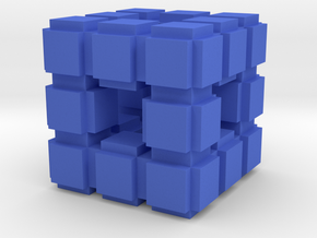 Fractal Cube VB7 in Blue Strong & Flexible Polished
