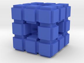 Fractal Cube VB7 in Blue Processed Versatile Plastic