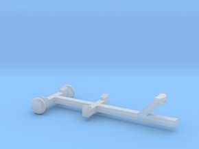 Pleasure Boat Trailer - Z scale  in Smooth Fine Detail Plastic
