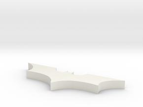Batman Necklace in White Natural Versatile Plastic