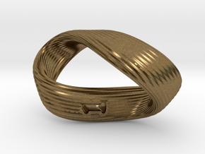 Mobius 1-Sided Die Version 2 in Natural Bronze