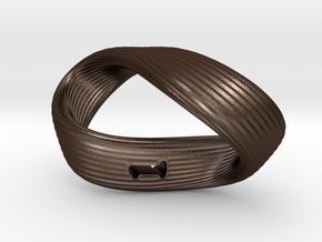 Mobius 1-Sided Die Version 2 in Matte Bronze Steel