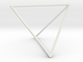 Tetrahedron in Transparent Acrylic