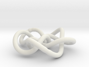 Prime Knot 8.16 in White Strong & Flexible