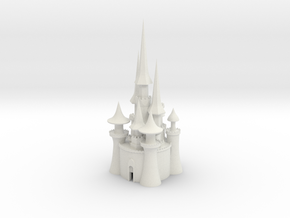 castle 3 in White Natural Versatile Plastic