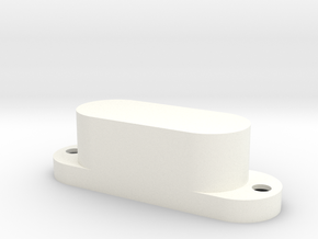 XII-style pickup cover also fits Mustang bass in White Processed Versatile Plastic